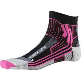 X-Socks Marathon Energy Calcetines Mujer, black/flamingo pink